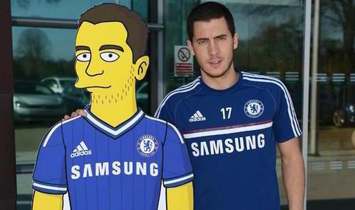 El delantero Hazard estará en un capítulo de Los Simpson. (Foto: Chelsea F.C)