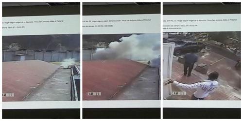La evolución del incendio documentado por el MP.