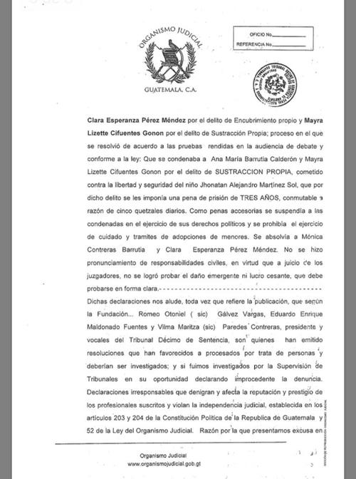 """Los jueces que integran el Tribunal Décimo argumentan que el señalamiento de 2009 de la Fundación Sobrevivientes fue """"irresponsable""""."""