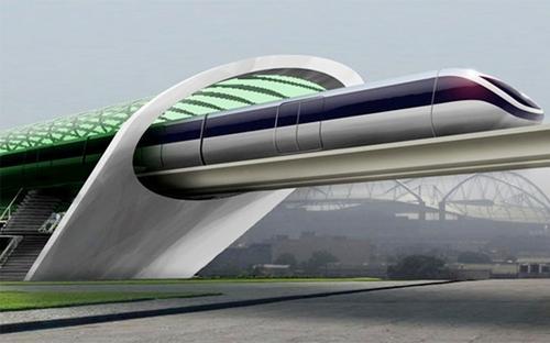 Hyperloop consiste en un tren de alta velocidad destinado a transportar mercancías y personas hasta una velocidad máxima de 1.200 kilómetros por hora. (Foto: pulsosocial.com)
