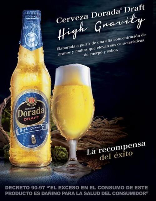 La nueva cerveza Dorada Draft High Gravity obtiene su nombre del proceso de fabricación que eleva los sabores y la convierte en la primera bebida de alta gravedad del país (Foto: Cervecería Centroamericana)
