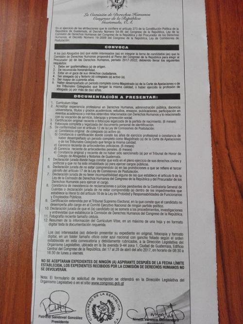 Este es el listado para los abogados interesados de participar en la terna que sustituirá al PDH.