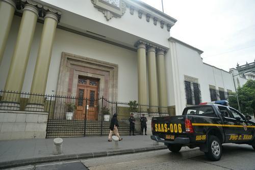Así se veía en los alrededores de Casa Presidencial. (Foto: Wilder López/Soy502)