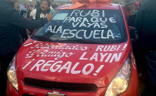 Este fue el carro regalado por el alcalde de San Blas. (Foto: elheraldo.hn)