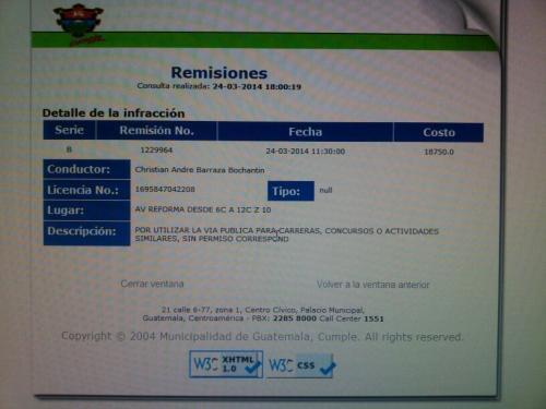 La remisión fue pagada el 24 de marzo según el detalle de la Municipalidad.