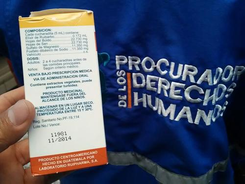 Las fotografías de la PDH demostraron que en las bodegas del hospital nacional de Huehuetenango hay medicamentos vencidos que pertenecerían al lote de medicinas donadas. (Foto: PDH)