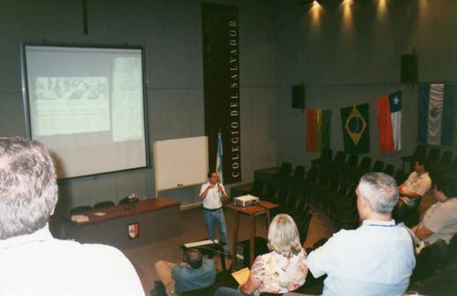 Jorge Colorado, Presidente de la Asociación Salvadoreña de Astronomía es uno de los pocos expositores centroamericanos que ha presentado una ponencia en la LIADA.