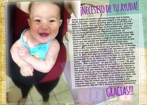La familia de Ariana pide la colaboración de los guatemaltecos pero sobre todo, sus oraciones.