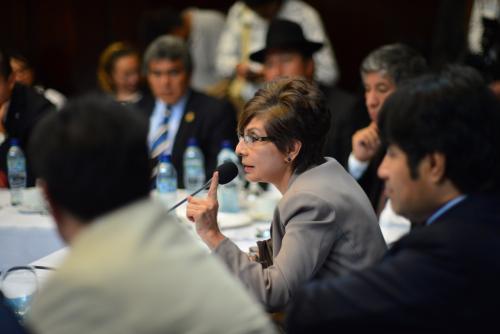 La diputada de Encuentro por Guatemala, Nineth Montenegro, pidió que se declare sesión permanente hasta que se dé trámite al informe de la Comisión. (Foto Jesús Alfonso/Soy502)
