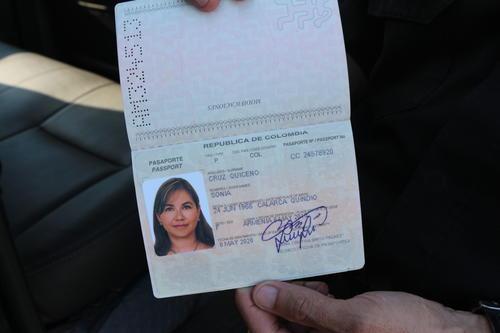 La colombiana Sonia Cruz, ingresó a Guatemala de manera legal el pasado 12 de diciembre. Foto:PNC