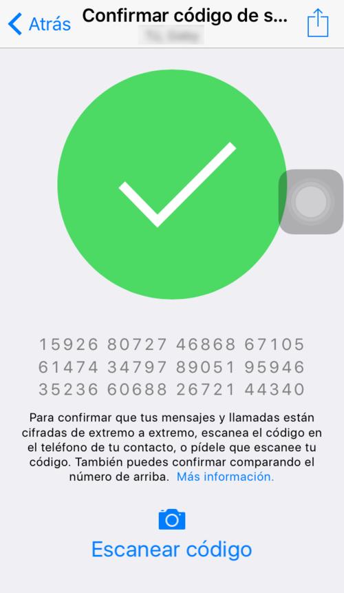 Cuando se escanea el código te aparece un check verde. (Foto: Soy502)