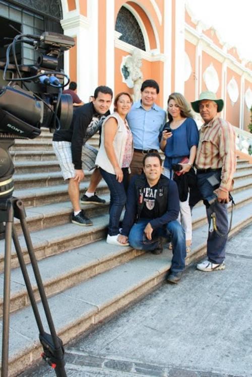 Éste es el equipo que participó en la realización del documental. Foto INGUAT