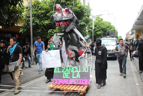 El mensaje de la Huelga fue claro en contra de la corrupción. (Foto: Alejandro Balan/Soy502)