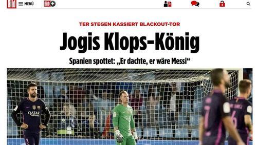 """El diario alemán Bild dice que Ter Stegen es el """"rey de la metidas de pata"""". (Foto: Twitter)"""