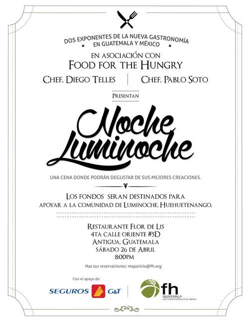 Noche Luminoche, es el nombre de la actividad a beneficio de la comunidad de Huehuetenango que sufre de serios problemas de desnutrición. (Foto: Noche Luminoche oficial)