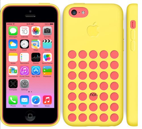 El iPhone 5C puede adquirirse en 5 colores y combinarse con 7 diferentes case.