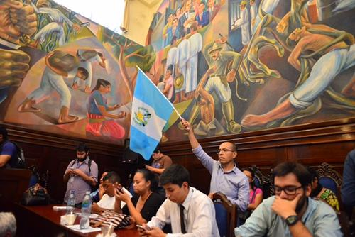 Ciudadanos celebraron que la pesquisidora recomendara retirar la inmunidad a Otto Pérez. (Foto: Jesús Alfonso/Soy502)