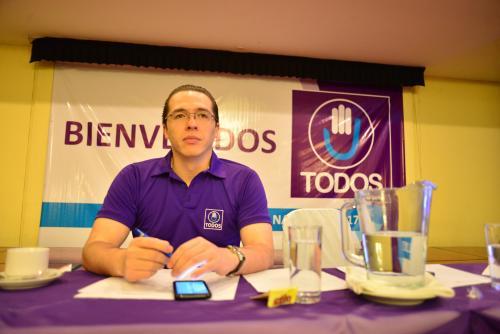 Felipe Alejos se reeligió en la asamblea como Secretario General. (Foto: Jesús Alfonso/Soy502)