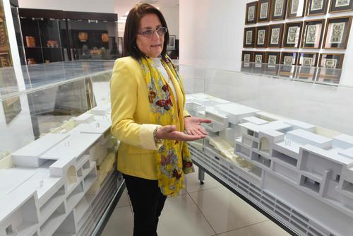Silvia García, gerente de Avance Institucional del MUMA, resalta que el diseño será amigable con el ambiente. (Foto: Jesús Alfonso/Soy502)