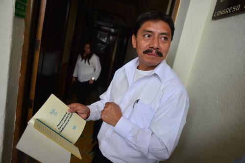 El dirigente sindical Alfredo Tumax considera que las acciones de la Junta Directiva en contra del pacto colectivo son políticas. (Foto: Jesús Alfonso/Soy502)