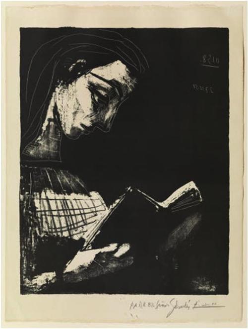 """""""Jacqueline Leyendo"""" es el retrato de su última esposa.  Picasso realizo unas 70 pinturas inspirado en ella. (Foto: Museu Picasso de Barcelona)"""