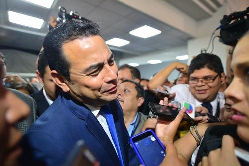 Jimmy Morales, del partido FCN Nacion, fue el gran ganador de las Elecciones 2015. (Foto: Wilder López/Soy502)