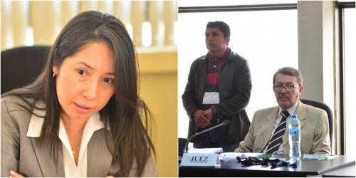 Víctor Hugo Herrera Ríos y Erika Aifán son los jueces de Mayor Riesgo que subsiguen a Miguel Ángel Gálvez. (Fotos: archivo/Soy502)