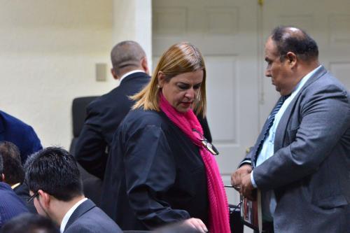 Anahí Keller, exsubsecretaria de Protección a la Niñez, es acusada de homicidio culposo, al igual que el exdirector del Hogar Seguro y el exsecretario de Bienestar Social. (Foto: Jesús Alfonso/Soy502)
