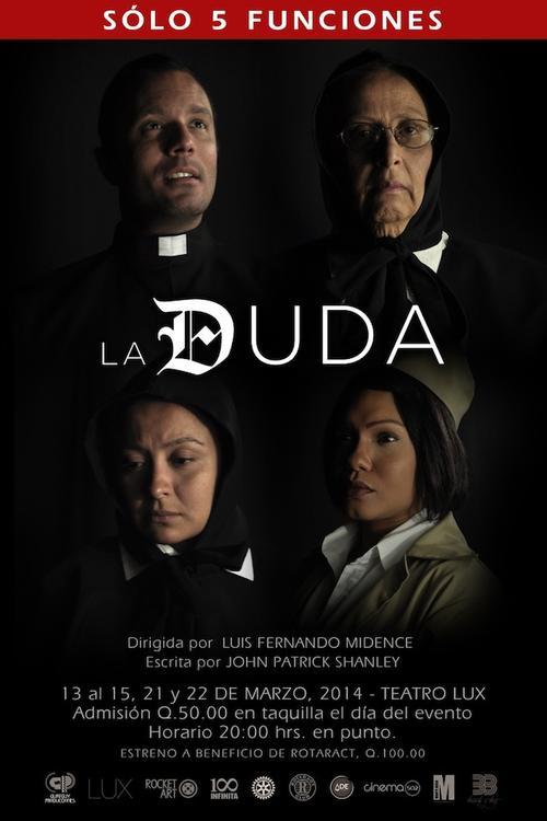 """La obra ganadora del Pulitzer, llamada """"La Duda"""", se presentará en el país en el Teatro Lux en el mes de marzo."""