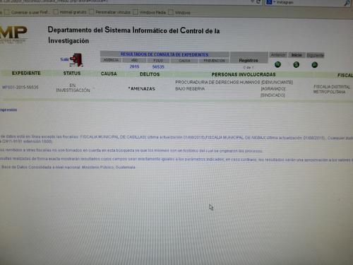 La denuncia se encuentra bajo reserva pero Soy502 tuvo acceso a su contenido.