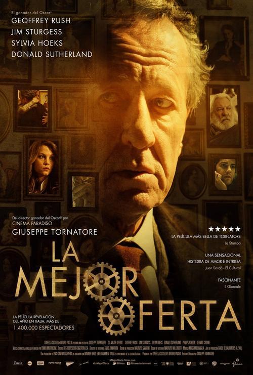 La mejor oferta es una película italiana dirigida por Giuseppe Tornatore. Los principales actores son Geoffrey Rush, Jim Sturgess, Sylvia Hoeks y Donald Sutherland.
