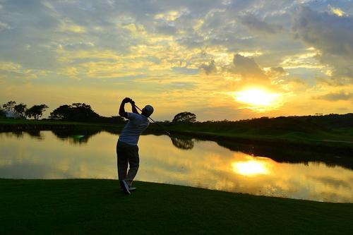 Vista del campo de golf de La Reunión, uno de los mejores de Guatemala.
