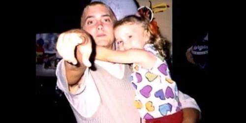 El rapero junto a su única hija biológica. (Foto: Digital Spy)