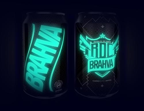 La nueva lata de Brahva brilla en la oscuridad.