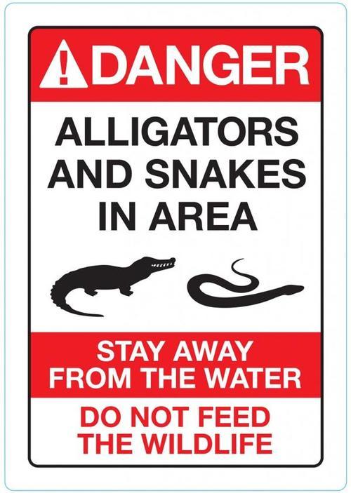 El cartel que Disney está instalando en todas sus playas en Florida. (Foto: AFP)