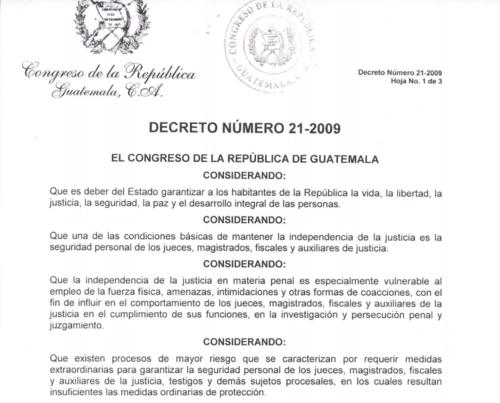 La defensa de Baldetti considera que se le  puede aplicar el cuarto considerando debido a su calidad de exvicepresidenta.