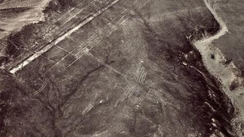 Imagen satelital de las lineas de Nazca. (Foto: Infobae)