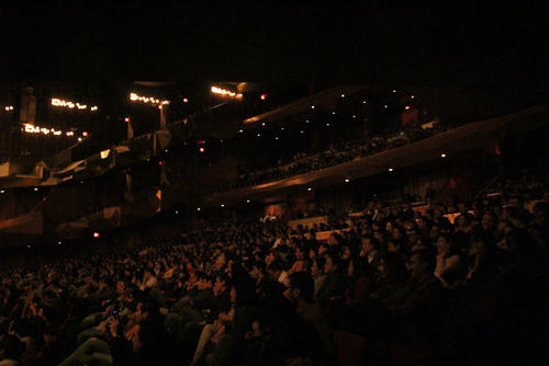 La Gran Sala Efraín Recinos del Teatro Nacional se llenó en su totalidad para este concierto. (Foto: Alexis Batres/Soy502)