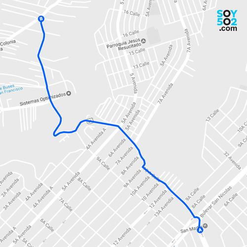 Utilizar la calle principal de la colonia Lo de Bran puede acortarle el tiempo a quienes se dirigen a la zona 6 de Mixco. (Imagen: Javier Marroquín/Soy502)