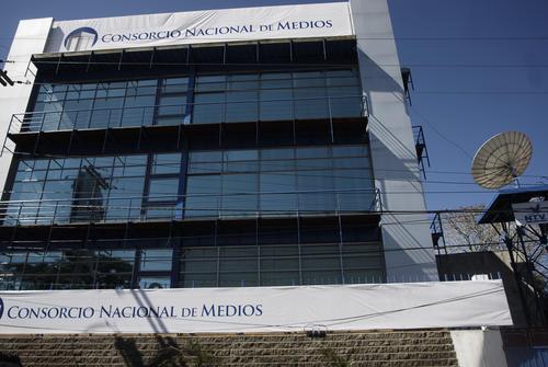 El edificio donde se encontraban ubicados los medios de comunicación en Carretera a El Salvador. (Foto: Archivo/Soy502)