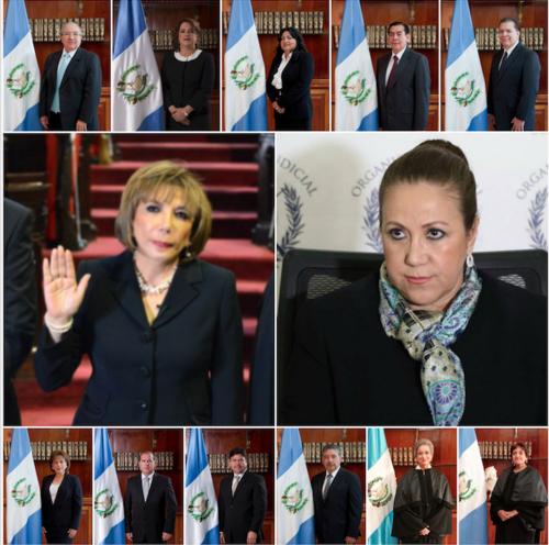 Los trece magistrados titulares que integran el pleno de la Corte Suprema de Justicia (CSJ).