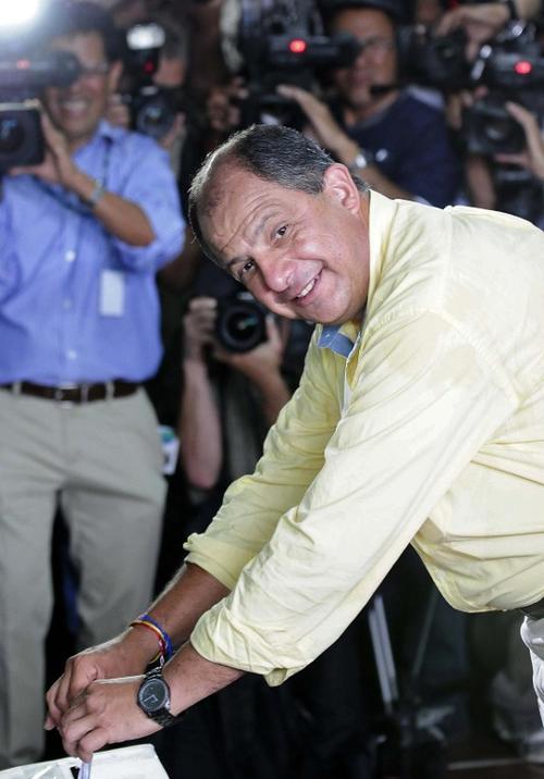 Luis Guillermo Solís, del Partido Acción Ciudadana (PAC) y quien se perfila como el virtual ganador (Foto: AFP)