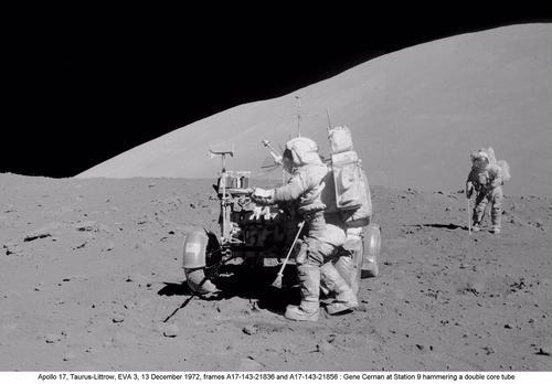 El material recogido por los astronautas de las misiones Apolo confirmó que los mares están formados de basalto.(Foto: NASA)