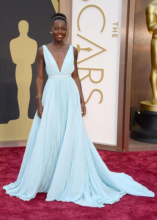 Vestido de Prada diseñado para ella (Foto: AFP)