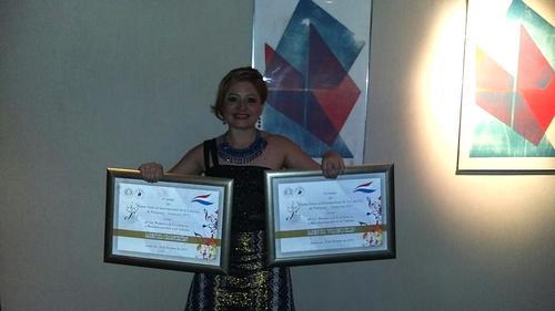 Magda Angélica recibió el galardón del Festival de Internacional de la Canción de Paraguay interpretando la canción. (Foto: Magda Angélica oficial)