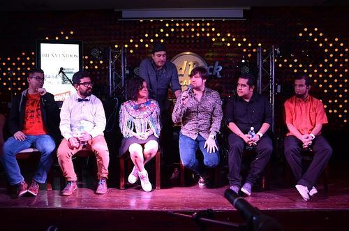 """Los artistas se unen en uno de los temas del disco """"A quien Corresponda"""". (Foto: Selene Mejía/Soy502)"""