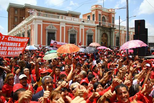 La agrupación anunció que movilizará entre 50 y 100 mil personas a favor de su binomio presidencial.  (Foto: Alexis Batres/Soy502)