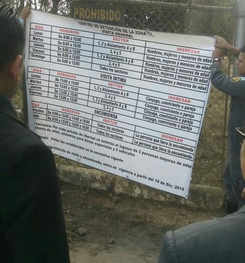 Estos son los nuevos horarios en la cárcel Mariscal Zavala. (Foto: Sistema Penitenciario)