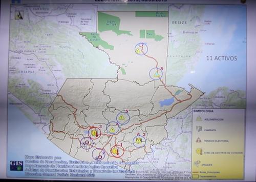 Mapa de riesgos. (Foto: Luis Barrios/Soy502)