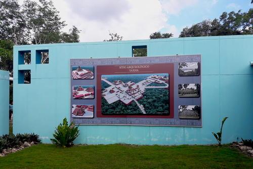 Esta es una idealización del la ciudad maya que se encuentra en Yaxha. (Foto: Javier Lainfiesta/Soy502)